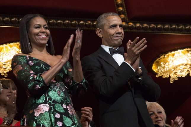 Former President Barack Obama and former first lady Michelle Obama said the new content will be released over the next several years. File Photo by Aude Guerrucci/UPI