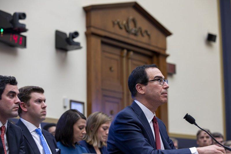 Treasury Secretary Steven Mnuchin said the redesigned $20 bill will come out in 2028. File Photo by Tasos Katopodis/UPI