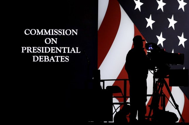 A cameraman is seen before the first 2016 presidential debate at Hofstra University in Hempstead, N.Y., on September 25, 2016. File Photo by John Angelillo/UPI