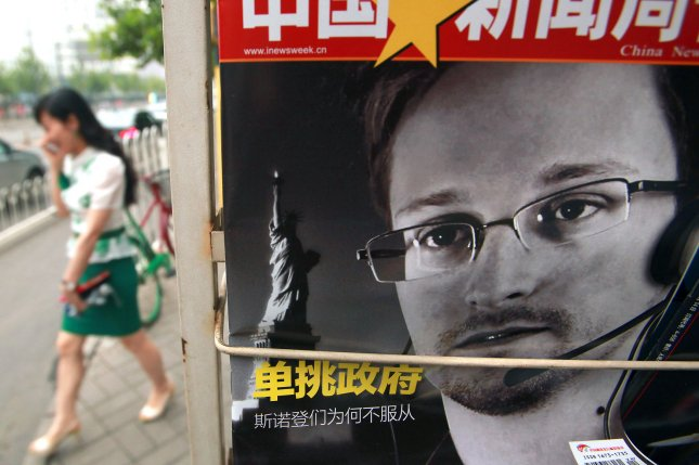 The European Union on Thursday narrowly voted to recommend that its 28 member nations drop criminal charges against Edward Snowden and protect him from U.S. extradition. The former defense contractor who leaked sensitive data on the NSA's phone surveillance program in 2013 called the vote a game-changer. Photo by Stephen Shaver / UPI