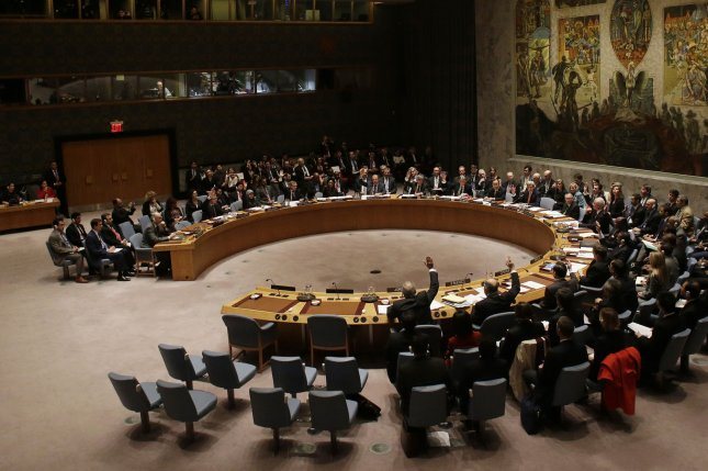 A source told South Korea press North Korean executives of a sanctioned trading company were in Iran immediately after the adoption of a United Nations Security Council sanctions resolution in early March. File Photo by John Angelillo/UPI