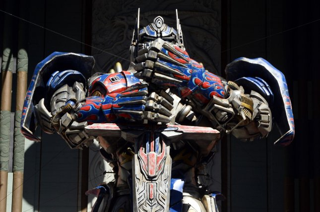 Optimus Prime From The 1 Billion Worldwide Blockbuster Film Transformers Age Of Extinction Is Unveiled Outside TCL Chinese Theater In Hollywood