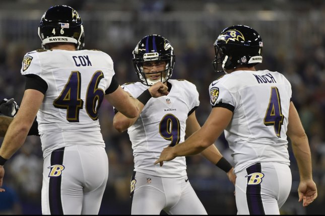 more photos eb6e4 ffbd7 Streak ends for Baltimore Ravens' Justin Tucker - UPI.com