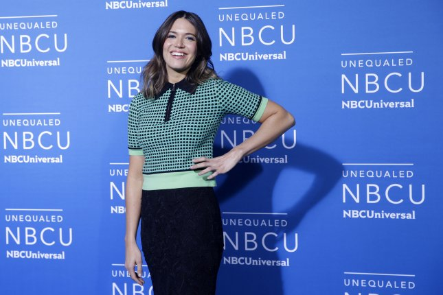 Mandy Moore attends the NBCUniversal upfront on Monday. The actress plays Kate Pearson on This is Us. Photo by John Angelillo/UPI