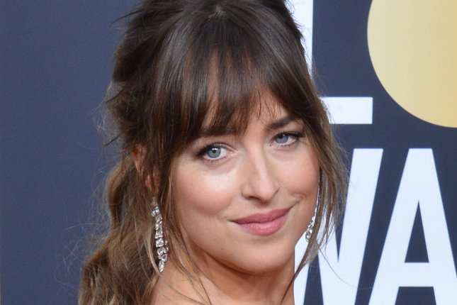 Dakota Johnson attends the Golden Globe Awards on January 7. File Photo by Jim Ruymen/UPI
