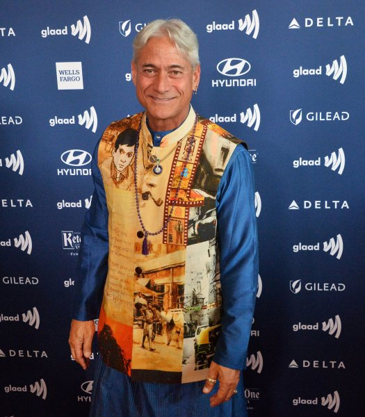 Greg Louganis attends the 30th annual GLAAD Media Awards ceremony at the Beverly Hilton Hotel in California on March 28. The Olympian turns 60 on January 29. File Photo by Jim Ruymen/UPI