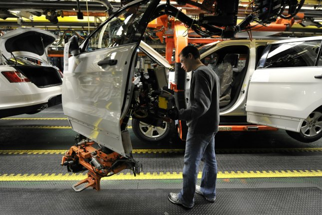 The Labor Department said in its report Friday that the manufacturing sector added more than 50,000 jobs during the month of March. File Photo by Brian Kersey/UPI