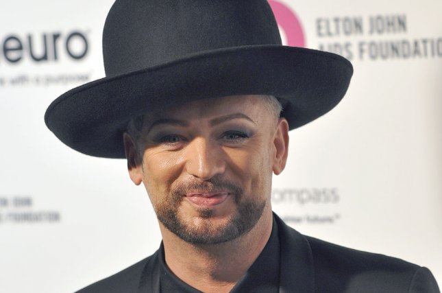 Boy George arrives at the Elton John Aids Foundation's 24th Annual Academy Awards viewing party in West Hollywood on February 28, 2016. File Photo by Christine Chew/UPI