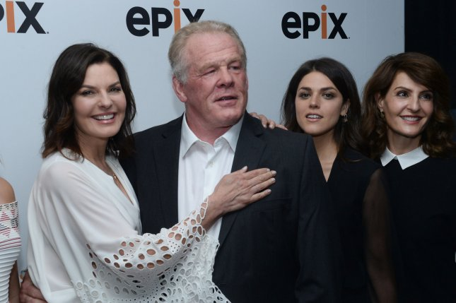 Graves cast members Sela Ward, Nick Nolte, Callie Hernandez and Nia Vardalos (L-R) attend EPIX's Television Critics Association Tour at The Beverly Hilton Hotel in Beverly Hills, California on July 30, 2016. File Photo by Jim Ruymen/UPI