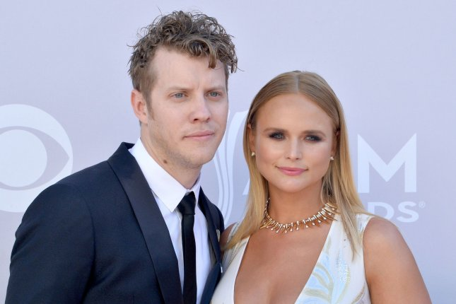 Miranda Lambert (R) and Anderson East attend the Academy of Country Music Awards on Sunday. Photo by Jim Ruymen/UPI