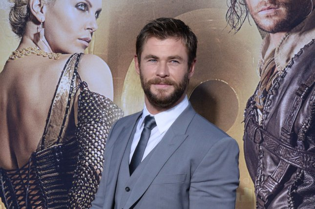 Chris Hemsworth attends the Los Angeles premiere of The Huntsman: Winter's War on April 11, 2016. The actor plays Thor in the Marvel cinematic universe. File Photo by Jim Ruymen/UPI