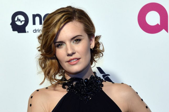 Maggie Grace attends the Elton John AIDS Foundation Academy Awards viewing party on February 28, 2016. The actress tied the knot with Brent Bushnell on Sunday. File Photo by Christine Chew/UPI