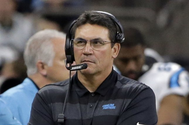 The Carolina Panthers fired former head coach Ron Rivera at the beginning of December. File Photo by AJ Sisco/UPI