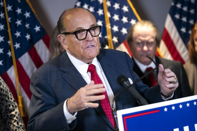 President Donald Trump's personal attorney Rudy Giuliani has tested positive for COVID-19, the president tweeted on Sunday afternoon. File Photo by Kevin Dietsch/UPI