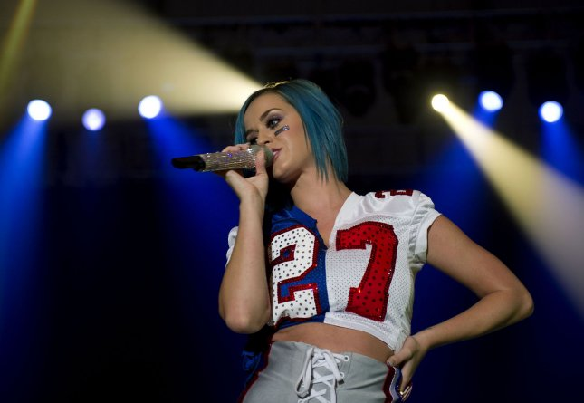 Katy Perry performs at the Direct TV Super Saturday Night concert in Indianapolis on February 4, 2012. UPI Photo