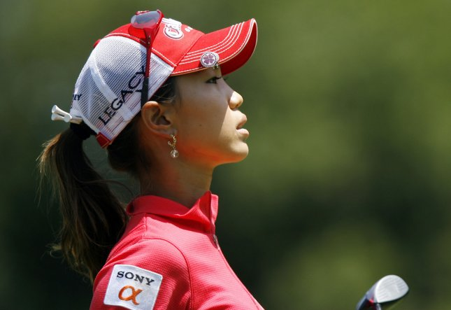 Momoko Ueda, shown in a 2009 file photo, won the LPGAs Mizuno Classic on the third hole of a sudden-death playoff Sunday. (UPI Photo/John Angelillo)