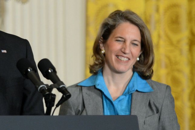 Preisdent Barack Obama announces Sylvia Matthews Burwell (R) as his nominee to be the Director of the Office of Management and Budget, during a personnel announcement in the East Room at the White House on March 4, 2013 in Washington, D.C. UPI/Kevin Dietsch
