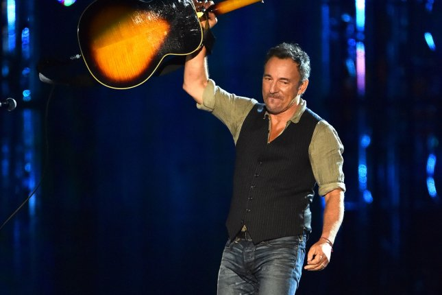 Bruce Springsteen performs during the Concert for Valor on the National Mall on Veteran's Day, November 11, 2014, in Washington, D.C. Photo by Kevin Dietsch/UPI