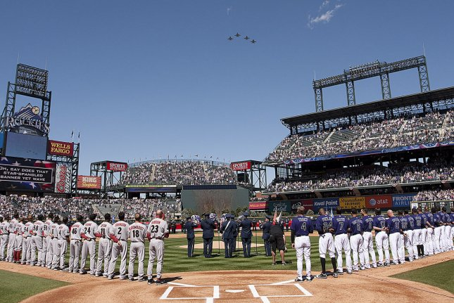 MLB is moving the 2021 All-Star Game from Atlanta to Coors Field in Denver due to voting laws passed in Georgia last month. File Photo by Gary C. Caskey/UPI