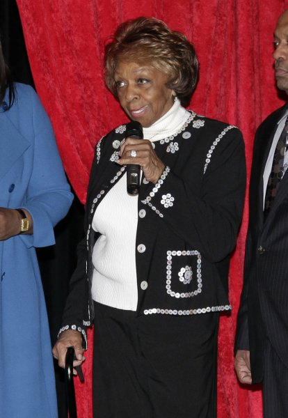 Cissy Houston speaks after four wax figures of her deceased daughter Whitney Houston are unveiled for the first time at Madame Tussauds in New York City on February 7, 2013. The four Whitney Houston wax figures will be installed in each of the four U.S. based Madame Tussauds locations in New York City, Washington D.C., Hollywood and Las Vegas. UPI/John Angelillo