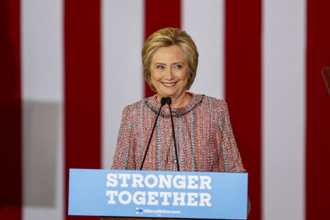 Democratic presidential candidate Hillary Clinton campaigns at the University of North Carolina-Greensboro on Thursday. On Monday, she added students at Temple University in Philadelphia as she reaches out to young people. Photo by Nell Redmond/UPI