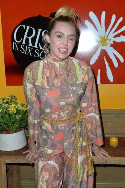 Miley Cyrus poses at The Crisis in Six Scenes premiere at The Crosby Street Hotel in New York City on September 15, 2016. Miley Cyrus came to Feldman's defense following Today performance, encouraging him to keep making music. Photo by Andrea Hanks/UPI