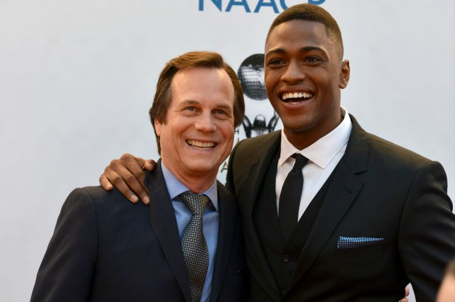 (L-R) Training Day stars Bill Paxton and Justin Cornwell arrive for the 48th NAACP Image Awards at the Pasadena Civic Auditorium in Pasadena on February 11. File Photo by Christine Chew/UPI