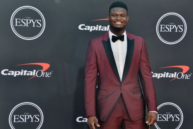 Former Duke Blue Devils star Zion Williamson had 16 points, seven rebounds, three assists and three steals in his NBA preseason debut for the New Orleans Pelicans Monday in Atlanta. File Photo by Jim Ruymen/UPI