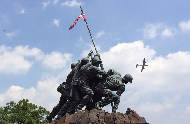 The Marine Corps announced Thursday that one of the men photographed raising the U.S. flag in Iwo Jima was misidentified. File Photo by Ioana Dietsch/UPI