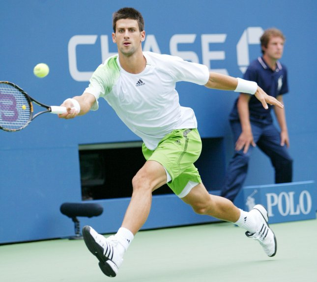 Novak Djokovic, shown during last year's U.S. Open, was a first-round winner Tuesday at a tournament in Dubai, United Arab Emirates, where he is the No. 1 seed. (UPI Photo/Monika Graff)