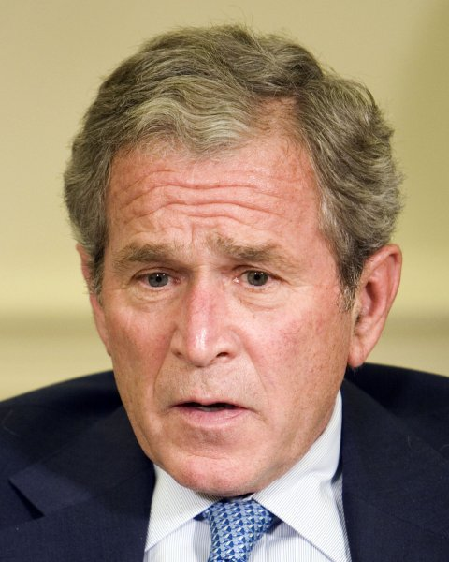 U.S. President George W. Bush. (UPI Photo/Joshua Roberts/Pool)