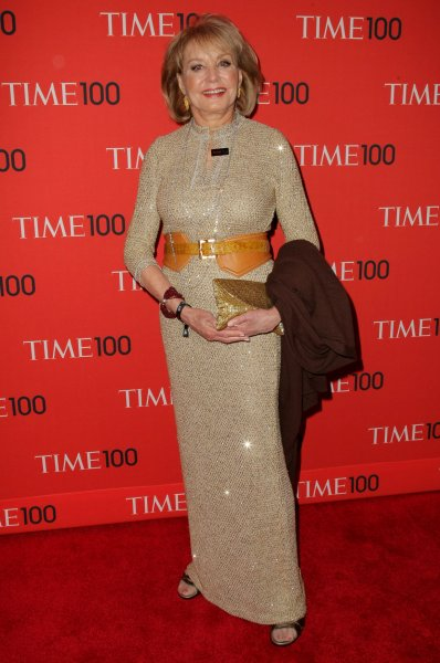 Barbara Walters arrives at the TIME 100 Gala at Jazz at Lincoln Center on April 23, 2013 in New York City. UPI/Monika Graff