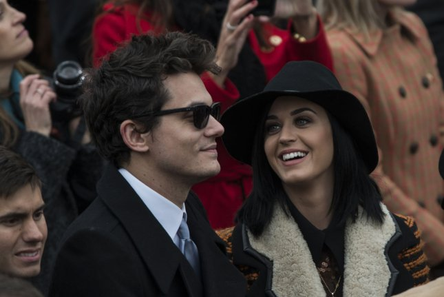 John Mayer and Katy Perry pictured as a couple on January 21, 2013. Photo by Mannie Garcia/UPI