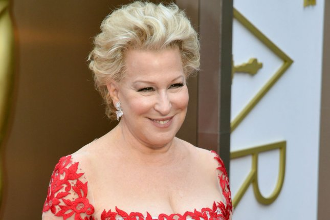 Bette Midler at the Academy Awards in Los Angeles in 2014. The actress shot down hopes for Hocus Pocus 2 on Tuesday. File Photo by Kevin Dietsch/UPI