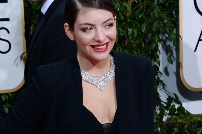 Singer Lorde attends the 72nd annual Golden Globe Awards at the Beverly Hilton Hotel in Beverly Hills, California on January 11, 2015. File Photo by Jim Ruymen/UPI