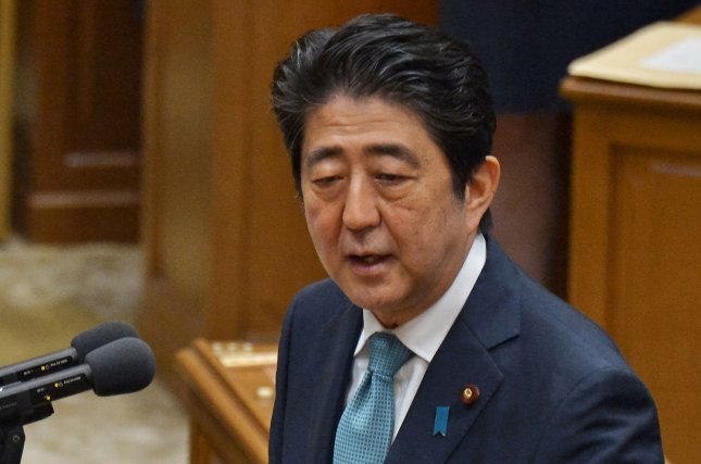 Japan's Prime Minister Shinzo Abe, angered by the alleged slaying of an Okinawa woman by a former U.S. Marine, vowed to confront President Barack Obama. Photo by Keizo Mori/UPI