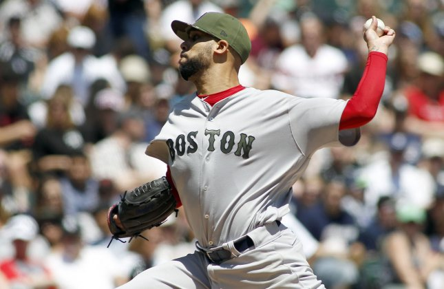 Boston Red Sox pitcher David Price delivers a throw during a game against the Chicago White Sox in May. Photo by Frank Polich/UPI