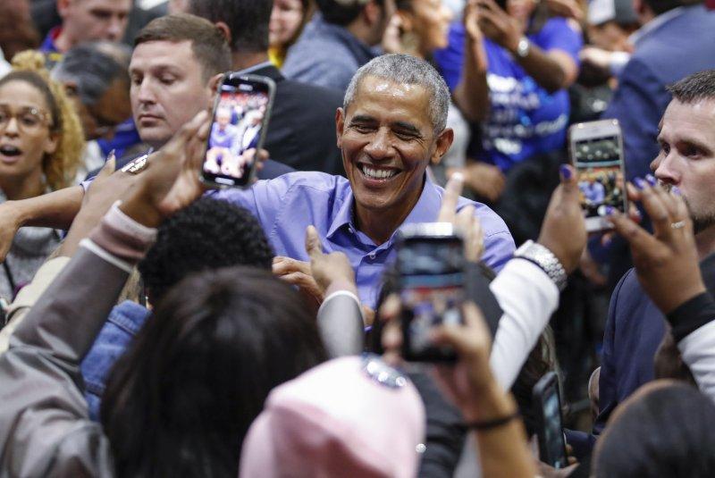 Barack Obama enjoyed Cardi B, Black Panther and Michelle Obama's book Becoming in 2018. File Photo by Kamil Krzaczynski/UPI