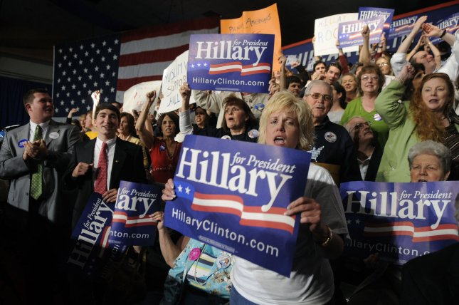Supporters of former Democratic presidential candidate Sen. Hillary Clinton (D-NY) at a campaign rally in Charleston, West Virginia on May 13, 2008. (UPI Photo/Kevin Dietsch)