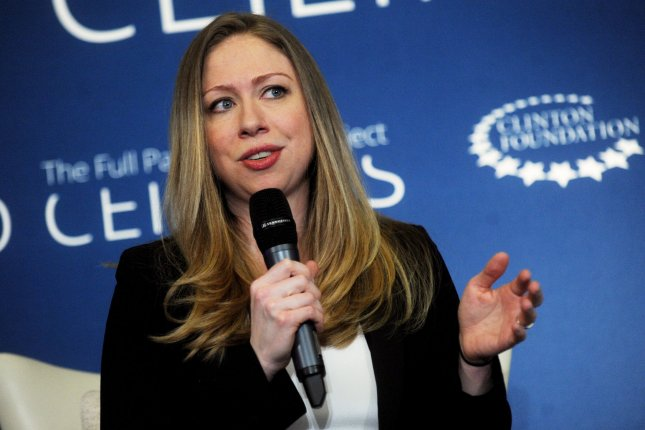 Chelsea Clinton speaks at 'A No Ceilings Conversation' at the Lower Eastside Girls Club in New York City. Clinton has followed her parents' footsteps into the paid speaking circuit, earning up to $75,000 an appearance. UPI/Dennis Van Tine