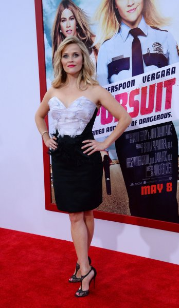 Reese Witherspoon attends the premiere of Hot Pursuit at TCL Chinese Theatre in the Hollywood section of Los Angeles on April 30, 2015. File photo by Jim Ruymen/UPI