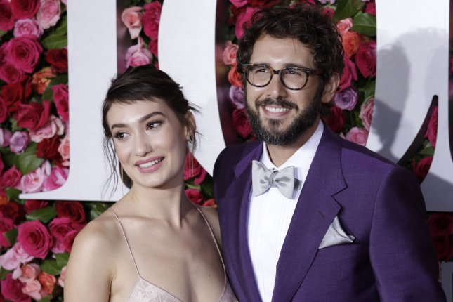 Josh Groban (L) and Schuyler Helford. Groban recently appeared on Watch What Happens Live and discussed his relationship with Katy Perry. File Photo by Serena Xu-Ning/UPI