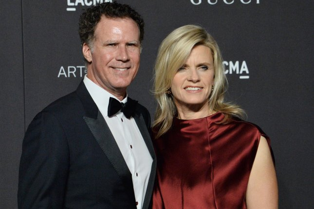 Will Ferrell (L) and his wife Viveca Paulin. Ferrell is returning as Ron Burgundy for a new podcast. File Photo by Jim Ruymen/UPI