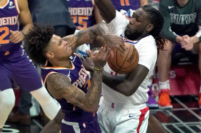 Phoenix Suns forward Kelly Oubre Jr. (L) has averaged career highs of 18.7 points and 6.4 rebounds in 56 games this season. File Photo by Jon SooHoo/UPI