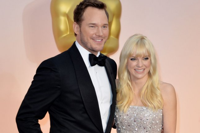 Chris Pratt and Anna Faris have a 2-year-old named Jack. Photo by Kevin Dietsch/UPI