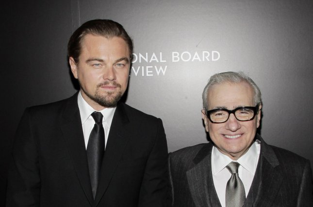 Leonardo DiCaprio (L) and Martin Scorsese at the National Board of Review Awards gala on January 7, 2014. The actor and the director will re-team on an adaptation of 'The Devil in the White City.' File photo by John Angelillo/UPI