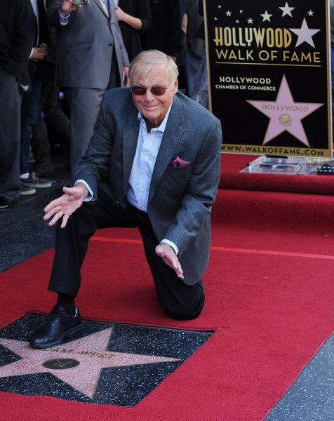 Batman actor Adam West died Saturday after a short battle with leukemia. He was 88. File Photo by Jim Ruymen/UPI