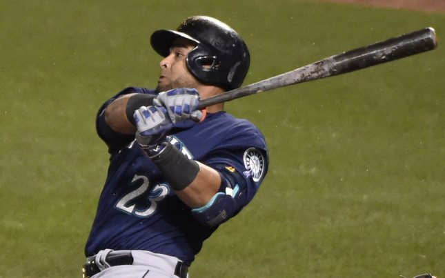 Seattle Mariners designated hitter Nelson Cruz helped his team win its third straight, defeating the Tampa Bay Rays on Friday. Photo by David Tulis/UPI