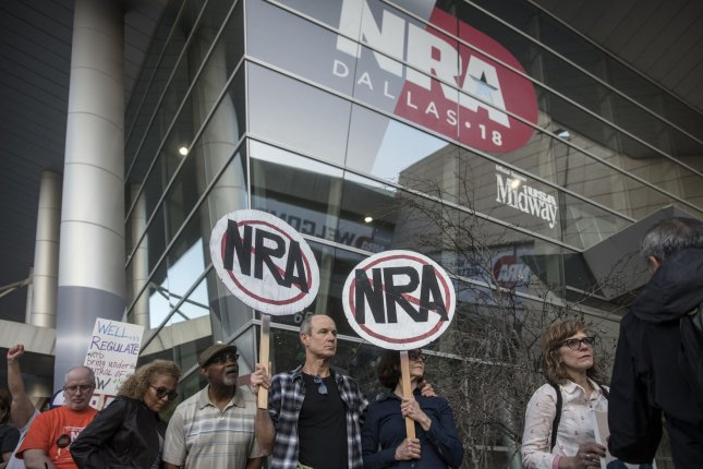 The NRA announced it is shutting down live programming from its NRATV online media arm. File Photo by Sergio Flores/UPI