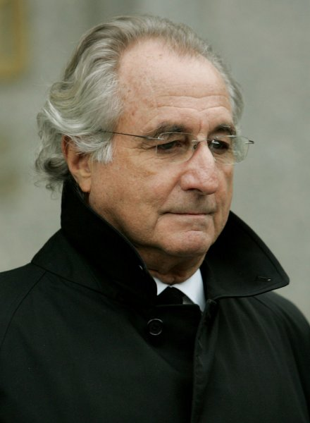 Bernard Madoff leaves Federal Court after a hearing where U.S. prosecutors persuaded a judge to end his house arrest for supposedly violating his bail conditions on January 14, 2009 in New York City. Madoff, who operated a $50 billion Ponzi-scheme, is accused of violating his bail conditions by attempting to hide his assets by mailing out $1 million worth of jewelry while under house arrest in his luxury apartment. (UPI Photo/Monika Graff)